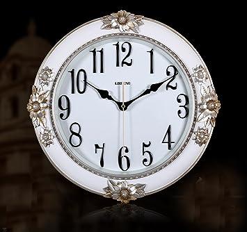 Captivating Amazon.de: Die Neue Europäische Stil Stille Uhr Mode Wanduhr Wohnzimmer  Esstisch Schlafzimmer Uhren
