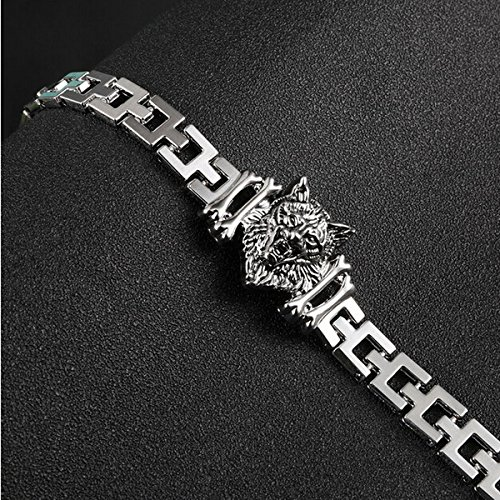 Sorellaz-Silver-Stainless-Steel-Wolf-Bracelet-for-Men