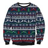 Niedliche Weihnachtshemden,HUYURI Frauen Santa Elk Druck O Neck Sweatshirt Tops