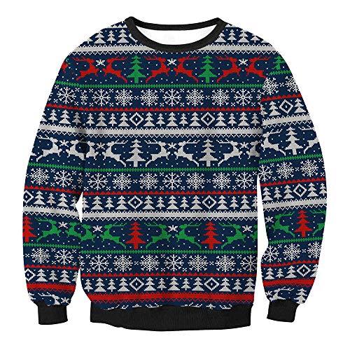 Damen Sweatshirt,Transwen Pullover Frauen Weihnachten Lässige Oberteile Tops Straße Kleidung...