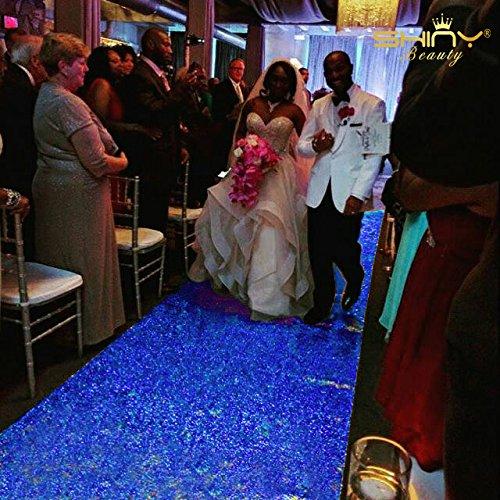 ShinyBeauty 3ftx20ft Royal Blau Teppich Läufer glitzernden Stoff Leicht für Hochzeit/Bankett/Party (36x 240-inch)