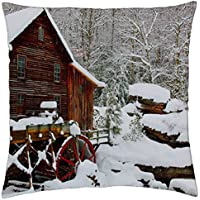 Grist mill- West Virginia - Throw Pillow Cover Case (Grist Mill)