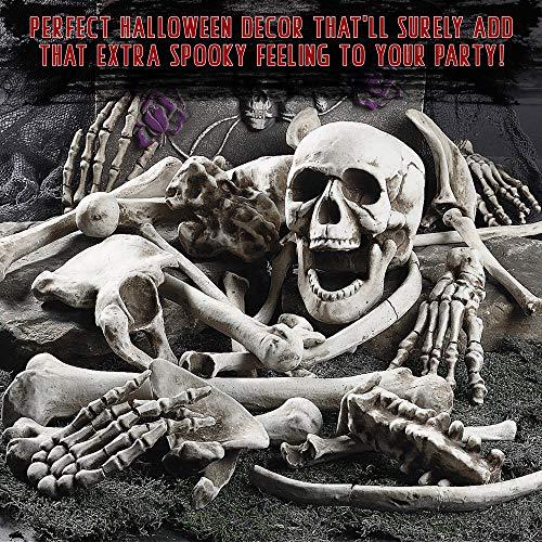 THE TWIDDLERS Halloween Saisonale Dekoration Tasche mit 25 gruseligen Knochen - Perfekt für Halloween Party deko Feiern - Ideal für Party Requisiten - 3