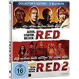 R.E.D. - Älter. Härter. Besser/R.E.D. 2 - Noch Älter. Härter. Besser - Steelbook [Blu-ray]