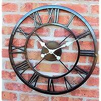 Grande al aire libre jardín pared reloj Big números romanos gigante Open Face Metal 58cm