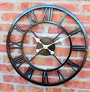 Large Outdoor Garden Wall Clock Big Roman Numerals Giant