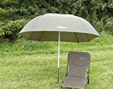 "88"" 2.2m BISON TOP TILT FISHING UMBRELLA BROLLY SHELTER"