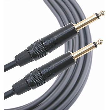 Mogami MGINS0500BL Câble Instruments Jack 6.3mm droit (5 m)