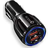 JOYSEUS Car Charger, 30W Dual USB Car Mobile Charger - QC 3.0 3.1A + Smart IC 3.1A, Car Charger Fast Charging Compatible…
