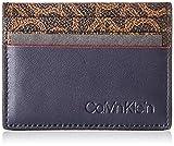 Calvin Klein Ck Mono Cardholder - Porta carte di credito Uomo, Nero (Navy), 7.8x1.2x11 cm (B x H T)