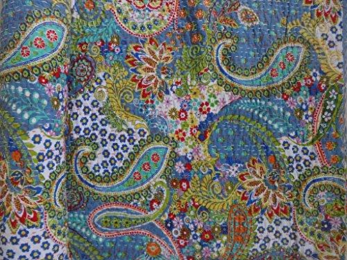 Elegant Designs Handgefertigt Paisley Gedruckt Kantha Quilt, Twin Größe Kantha Betten, Indische Baumwolle Tagesdecke, Bohemian Kantha Werfen, Floral Bett Cover von -