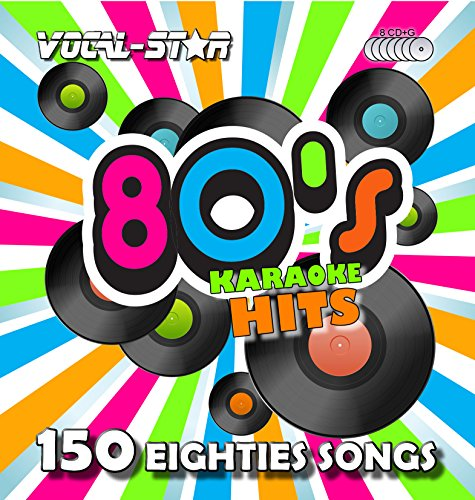 Price comparison product image Vocal-Star 80's Karaoke CD CDG Disc Pack 8 Discs CDs 150 Songs