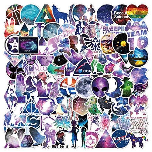 Galaxy Style Aufkleber, 100 Stück/Pack Aufkleber, verschiedene Vinyl, Auto-Aufkleber, Motorrad, Fahrrad, Gepäck, Graffiti Patches Skateboard Aufkleber für Laptop Aufkleber für Kinder und Erwachsene (Galaxy Vinyl-aufkleber)