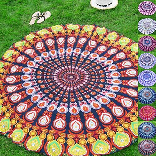 YGQersh Mandala Redonda Aire Libre Viaje Chiffon Yoga