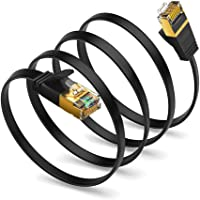 Cat 8 Ethernet Cable, CableCreation Flat Network LAN Cable Cord 40 Gigabit Internet Router Cable High Speed RJ45 Wire…