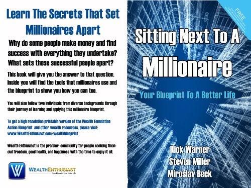 Sitting next to a millionaireyour blueprint to a better life your blueprint to a better life by malvernweather Image collections
