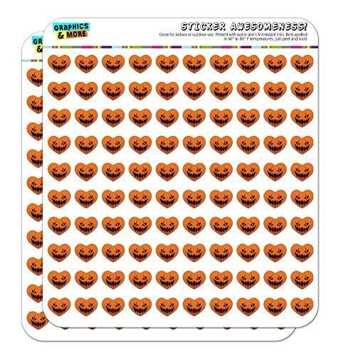 (Jack-o'-Lantern Kürbis-Gesicht, Halloween-Dekoration, Herz-Form-Planer, Kalender, Scrapbook-Aufkleber 200 0.5