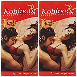 Kohinoor Condom Xtra Time - 10 Count (Pack of 2)