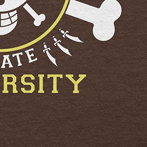 TEXLAB - Grand Line Pirates University - Herren T-Shirt Braun