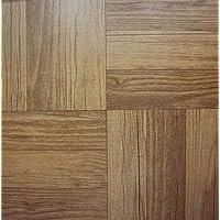 50 baldosas de vinilo: madera oscura SELF-STICK