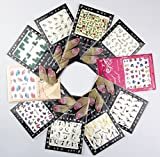 10X Quality Sole Package Manicure Nail Sticker 3D Nail Tattoo Decals by RayLineDo