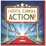Creative Converting 16Count Hollywood Lichter Mittagessen Servietten, rot/blau/weiß