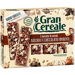 Gran Cereale – Snack Barrette 4 Cereali Nocciola e Cioccolato – Colazione e Snack Dolce – 135 gr