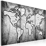 murando - Weltkarte Pinnwand 135x90 cm - Bilder mit Kork Rückwand - Vlies Leinwandbild - Korktafel - Fertig Aufgespannt - Wandbilder XXL - Kunstdrucke - Landkarte Kontinent k-A-0067-p-d