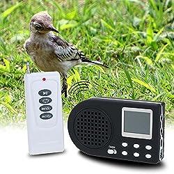 sprigy (TM) Electronics Caza Reclamo de caza de control remoto reproductor de sonido con pájaros de MP3Control remoto con altavoz