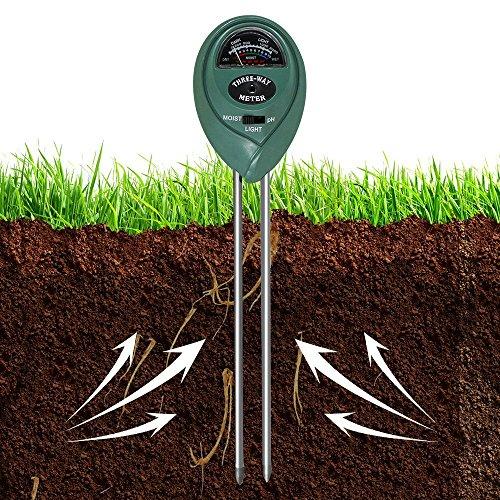 Galleria fotografica Umidità del suolo.3in 1pianta del suolo tester umidità luce PH Meter Plant Flowers Garden Soil analyzer tester verde-utensile Taglia libera Green