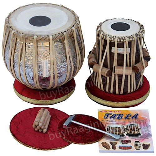 Maharaja Ganesha Art Tabla Drum Set Bayan de cobre
