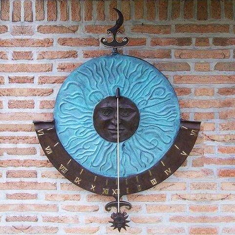 Jardín sueño grandes pared Reloj de sol-Kopernikus, bronce