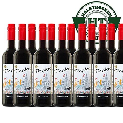 Rotwein Spanien Tapaz Tempranillo halbtrocken (12x0,75l) - VERSANDKOSTENFREI -
