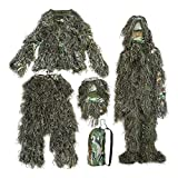 GHILLIE SUIT UK SELLER BURLAP 3D CAMO WOODLAND SHOOTING/PHOTOGRAPHY CAMOUFLAGE