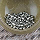 Metal Spacer Beads - Silver Plated -500 - 4mm