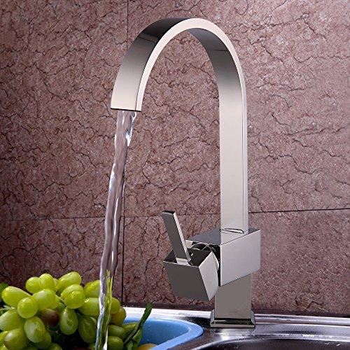 JUEYAN Einhand Spültischarmatur Küchenarmatur Küche Wasserhahn Armatur Mischbatterie