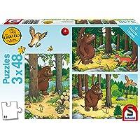 """Schmidt Spiele 56211 """"Who is afraid of Grüffelo"""" Puzzle (3 x 48-Piece)"""