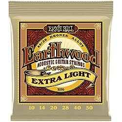 Cuerdas de guitarra - Ernie Ball Earthwood Extra Light - Acústica - Bronce