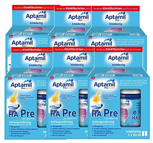 Aptamil ProExpert HA Pre Anfangsmilch, trinkfertig, 6er-Pack (6 x 2 x 90 ml)