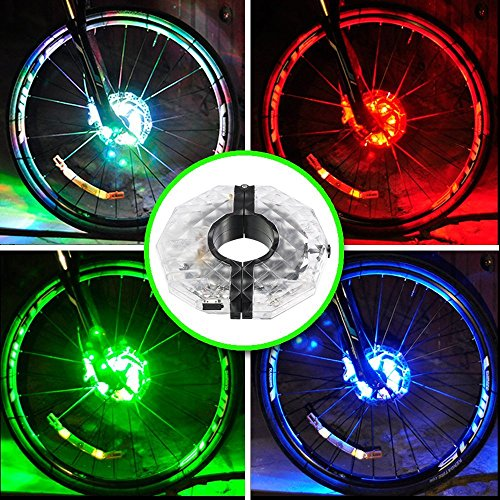 Luci del mozzo della ruota della bici ricaricabile di Mefe, USB impermeabile ricaricabile del LED della bici 3 modalità della luce della luce di sicurezza della luce del raggio della bicicletta