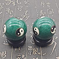QTZS Chinesische Traditionelle Fitness-Ball Dekompression Handball Grün Tai Chi 50mm450g preisvergleich bei billige-tabletten.eu