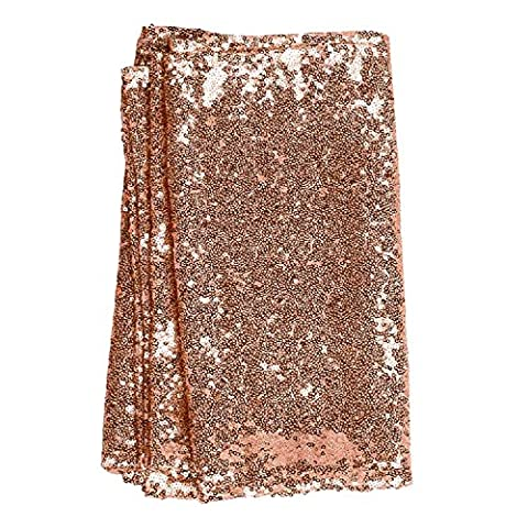 12x108inch Table Runner Decorative Table Runners Tablelcoth for Birthday Parties Weddings Baby Showers (Rose Gold)