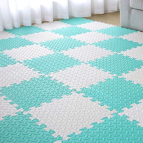 E.enjoy-tappeto puzzle piastrelle for pavimenti ad incastro for bambini in schiuma eva for bambini morbidi ad incastro spessore 60 cm x 60 cm 1,2 cm spessore