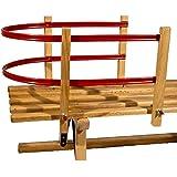 Nijdam Kids Backrest for Wooden Sled Blank/Red, tamaño:OneSize