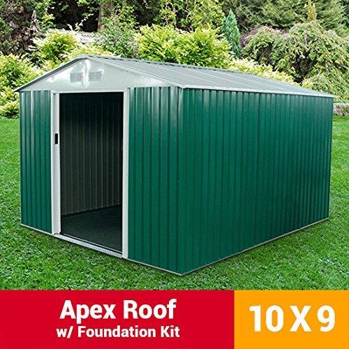 10x9-archer-metal-garden-shed-apex-roof-storage-sheds-including-foundation-kit