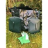 Jardín 5piezas con hojas Saco, guantes y plástico aspas