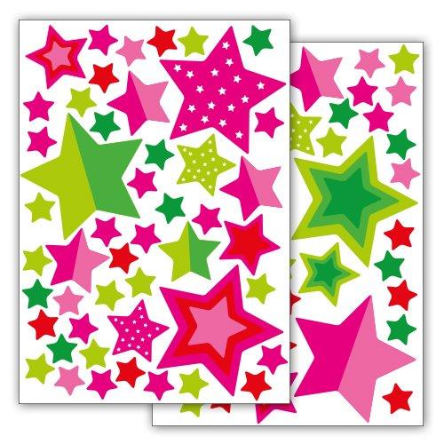 Fahrradaufkleber 'Sterne und Sternchen' 89 Aufkleber im Sticker Set
