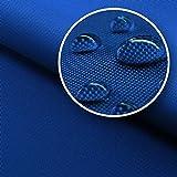 novely® SUNSET OXFORD 420D Premium SU-21   Farbe 21 BLAU   extrem reißfestes und dichtes Gewebe   UV-beständig und bedruckbar   Polyester Stoff 1 lfm OUTDOOR Meterware Strandkorb Zeltstoff wasserdicht
