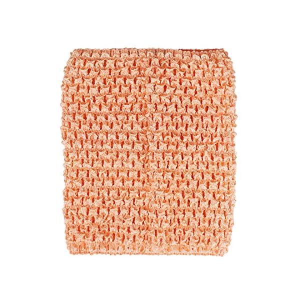Kelis 6 Pulgadas Colores Surtidos bebé niña Crochet tutú Tubo Tops Pecho Wrap Wide Crochet Diademas Pack de 4 5