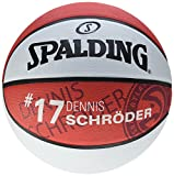 Spalding Nba Player D. Schroeder SZ.7 (83-395Z) Basketball, Rot/Weiß, 7
